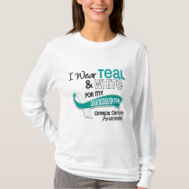 I Wear Teal White 42 Granddaughter Cervical Cancer T-Shirt
