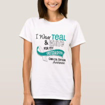 I Wear Teal White 42 Granddaughter Cervical Cancer T-Shirt