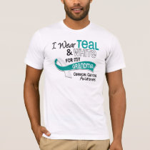 I Wear Teal White 42 Grandma Cervical Cancer T-Shirt