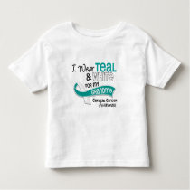 I Wear Teal White 42 Grandma Cervical Cancer Toddler T-shirt