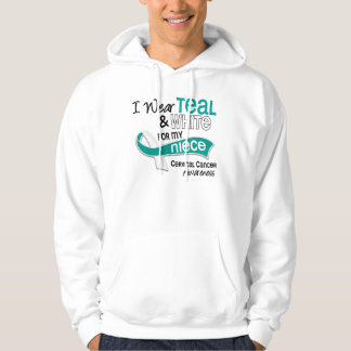 I Wear Teal White 42 Niece Cervical Cancer Hoodie