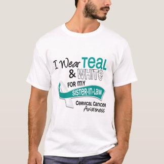 I Wear Teal White 42 Sister-In-Law Cervical Cancer T-Shirt