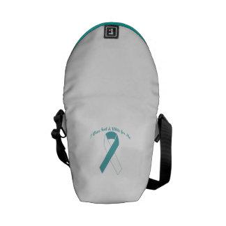 I Wear Teal & White for Me Messenger Bag