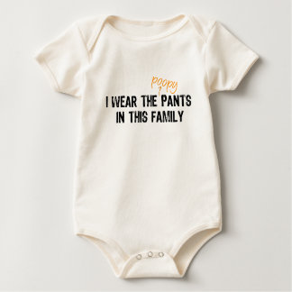 I wear the pants... baby creeper