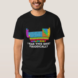 I wear this shirt periodically - periodic table