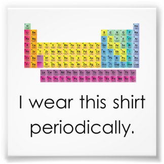 I Wear This Shirt Periodically Photo Print