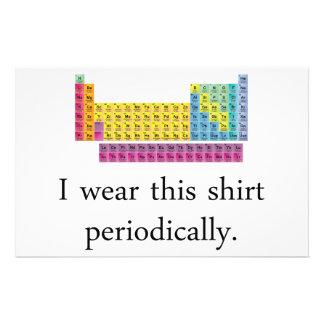 I Wear This Shirt Periodically Stationery