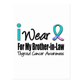 I Wear Thyroid Cancer Ribbon Brother-in-Law Postcard