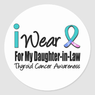 I Wear Thyroid Cancer Ribbon Daughter-in-Law Sticker