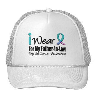 I Wear Thyroid Cancer Ribbon Father-in-Law Trucker Hat