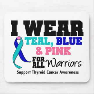 I Wear Thyroid Cancer Ribbon For All Warriors Mouse Mat