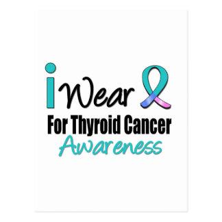 I Wear Thyroid Cancer Ribbon For Awareness Postcard