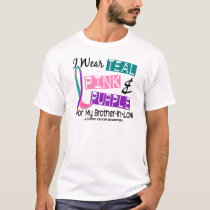 I Wear Thyroid Cancer Ribbon For Brother-In-Law 37 T-Shirt