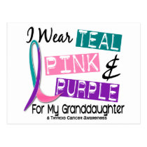 I Wear Thyroid Cancer Ribbon For Granddaughter 37 Postcard