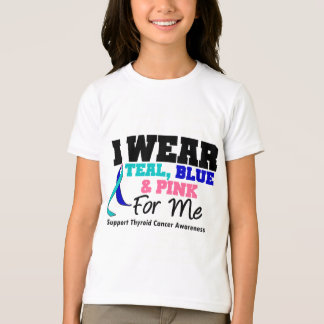 I Wear Thyroid Cancer Ribbon For Me T-Shirt