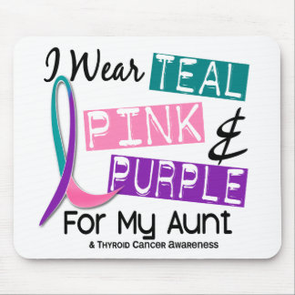 I Wear Thyroid Cancer Ribbon For My Aunt 37 Mouse Pad