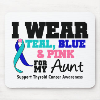 I Wear Thyroid Cancer Ribbon For My Aunt Mouse Pad