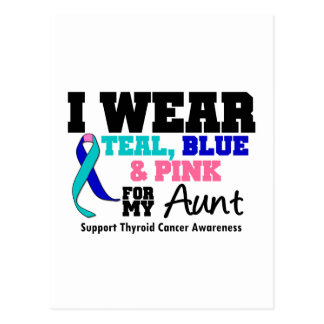 I Wear Thyroid Cancer Ribbon For My Aunt Postcard
