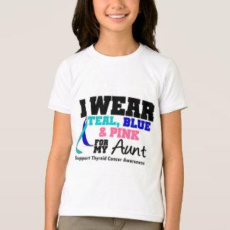 I Wear Thyroid Cancer Ribbon For My Aunt T-Shirt