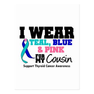 I Wear Thyroid Cancer Ribbon For My Cousin Postcard