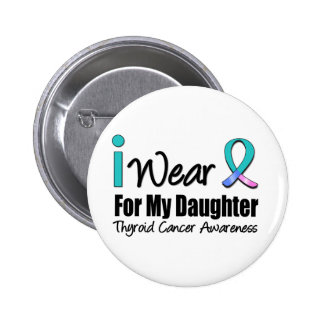 I Wear Thyroid Cancer Ribbon For My Daughter Pin