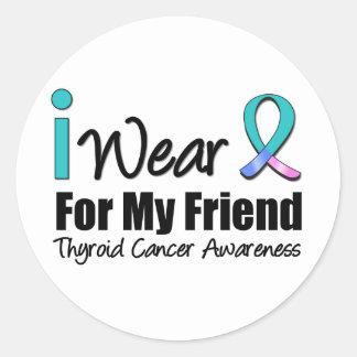 I Wear Thyroid Cancer Ribbon For My Friend Sticker