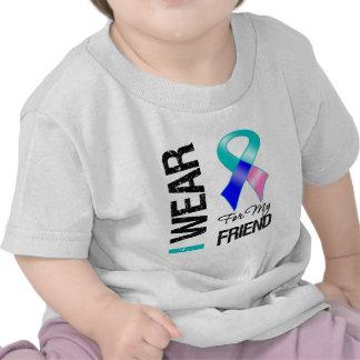 I Wear Thyroid Cancer Ribbon For My Friend Tshirt