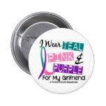 I Wear Thyroid Cancer Ribbon For My Girlfriend 37 2 Inch Round Button