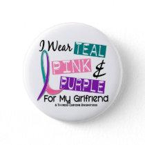 I Wear Thyroid Cancer Ribbon For My Girlfriend 37 Button