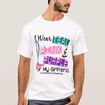 I Wear Thyroid Cancer Ribbon For My Girlfriend 37 T-Shirt