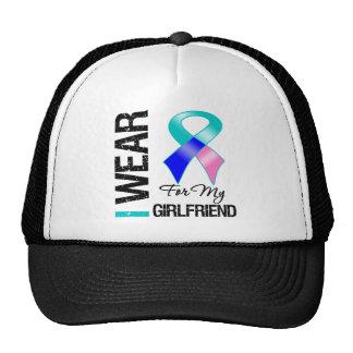 I Wear Thyroid Cancer Ribbon For My Girlfriend Trucker Hat