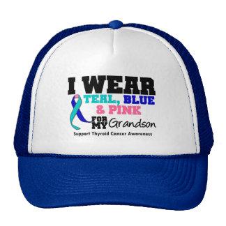 I Wear Thyroid Cancer Ribbon For My Grandson Trucker Hat
