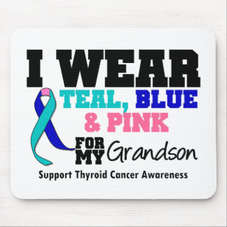 I Wear Thyroid Cancer Ribbon For My Grandson Mouse Pad