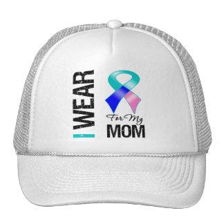 I Wear Thyroid Cancer Ribbon For My Mom Trucker Hat