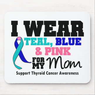 I Wear Thyroid Cancer Ribbon For My Mom Mouse Pad