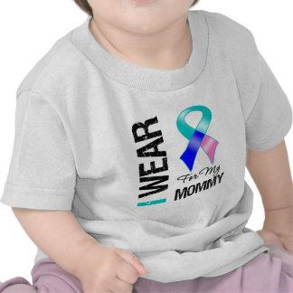 I Wear Thyroid Cancer Ribbon For My Mommy Shirt
