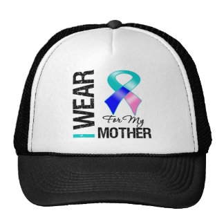 I Wear Thyroid Cancer Ribbon For My Mother Trucker Hat