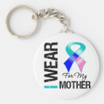 I Wear Thyroid Cancer Ribbon For My Mother Key Chains