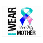 I Wear Thyroid Cancer Ribbon For My Mother Postcard