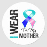 I Wear Thyroid Cancer Ribbon For My Mother Stickers