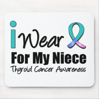 I Wear Thyroid Cancer Ribbon For My Niece Mouse Pad