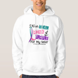 I Wear Thyroid Cancer Ribbon For My Sister 37 Hoodie