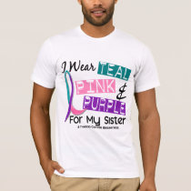 I Wear Thyroid Cancer Ribbon For My Sister 37 T-Shirt