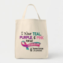 I Wear Thyroid Cancer Ribbon For My Sister-In-Law Tote Bag