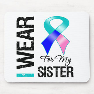 I Wear Thyroid Cancer Ribbon For My Sister Mouse Pad