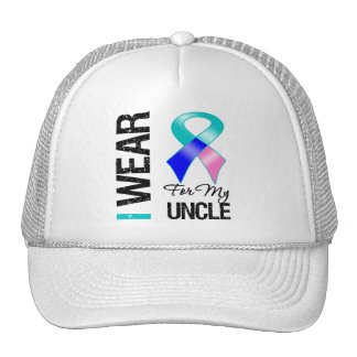 I Wear Thyroid Cancer Ribbon For My Uncle Trucker Hat
