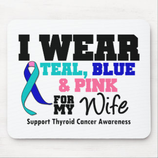 I Wear Thyroid Cancer Ribbon For My Wife Mouse Pad