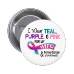 I Wear Thyroid Cancer Ribbon For My Wife Pin