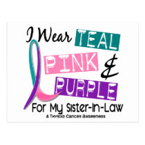 I Wear Thyroid Cancer Ribbon For Sister-In-Law 37 Postcard