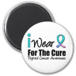 I Wear Thyroid Cancer Ribbon For The Cure 2 Inch Round Magnet